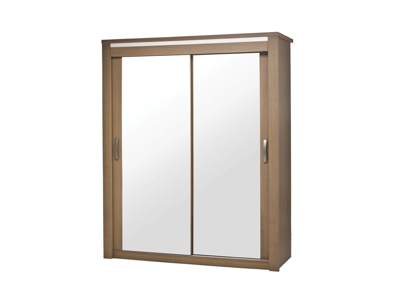 armoire 2 portes coulissantes miroir bahia laque perle - Armoire Portes Coulissantes Miroir