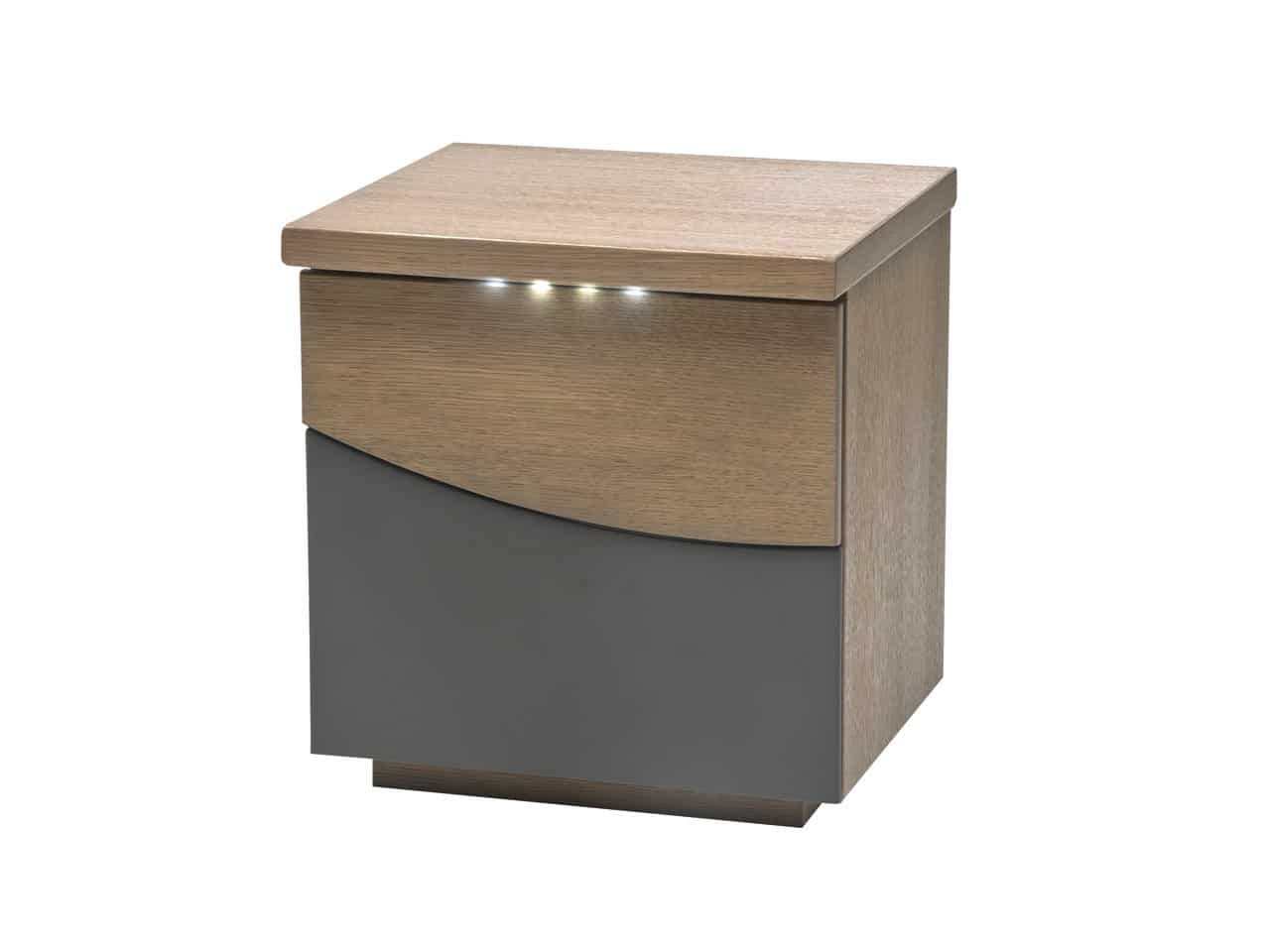 Table chevet Carbone tiroirs Bahia Meubles 2 Laque Minet de j3L5qAR4