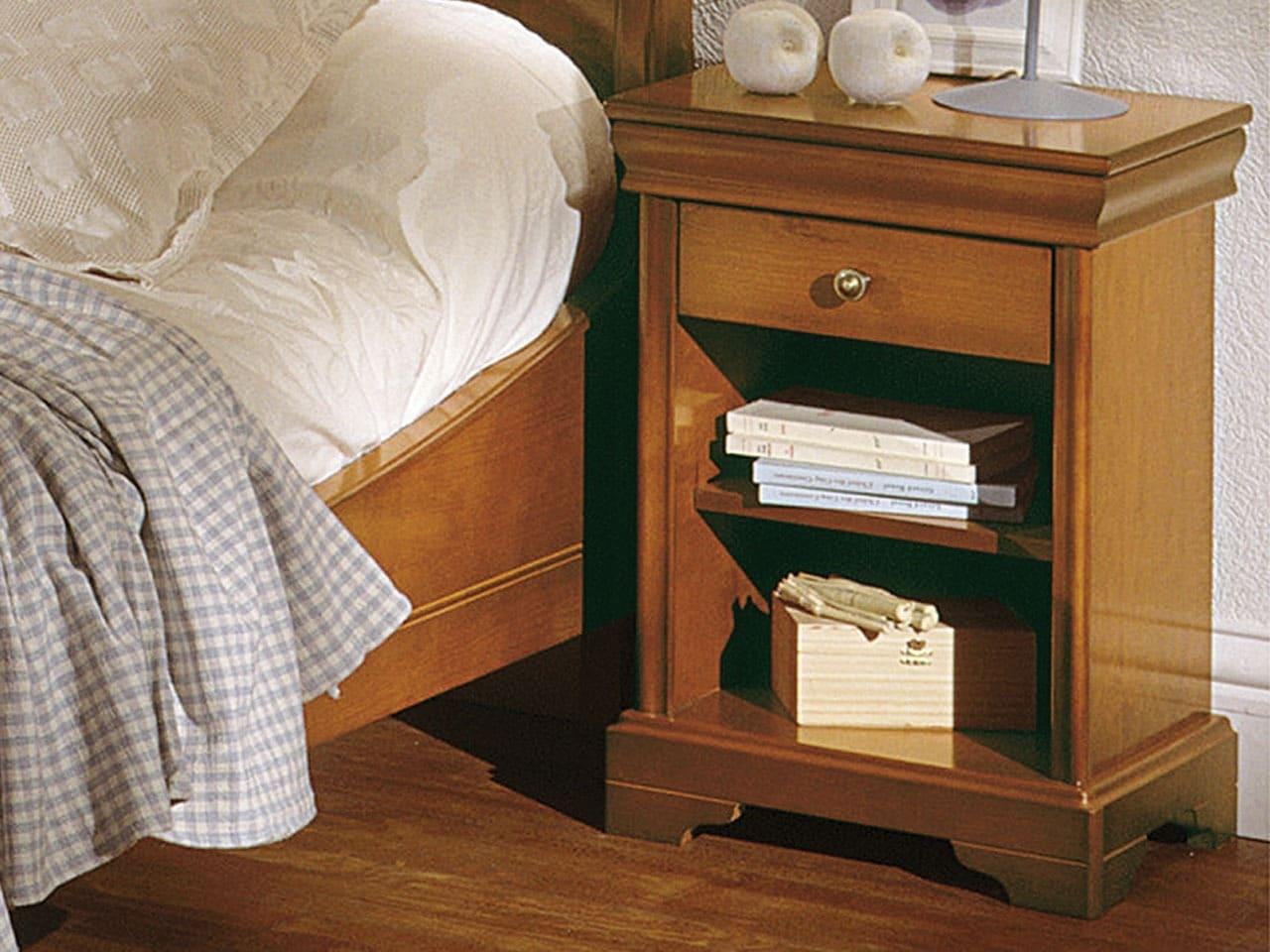 Table de chevet nina style louis philippe 1 tiroir meubles minet
