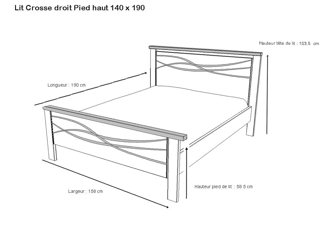lit droit pied haut serena volga meubles minet. Black Bedroom Furniture Sets. Home Design Ideas