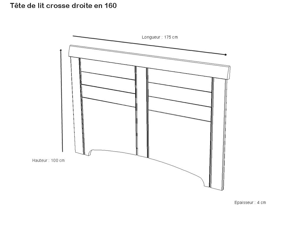 t te de lit crosse droite kamilia merisier meubles minet. Black Bedroom Furniture Sets. Home Design Ideas