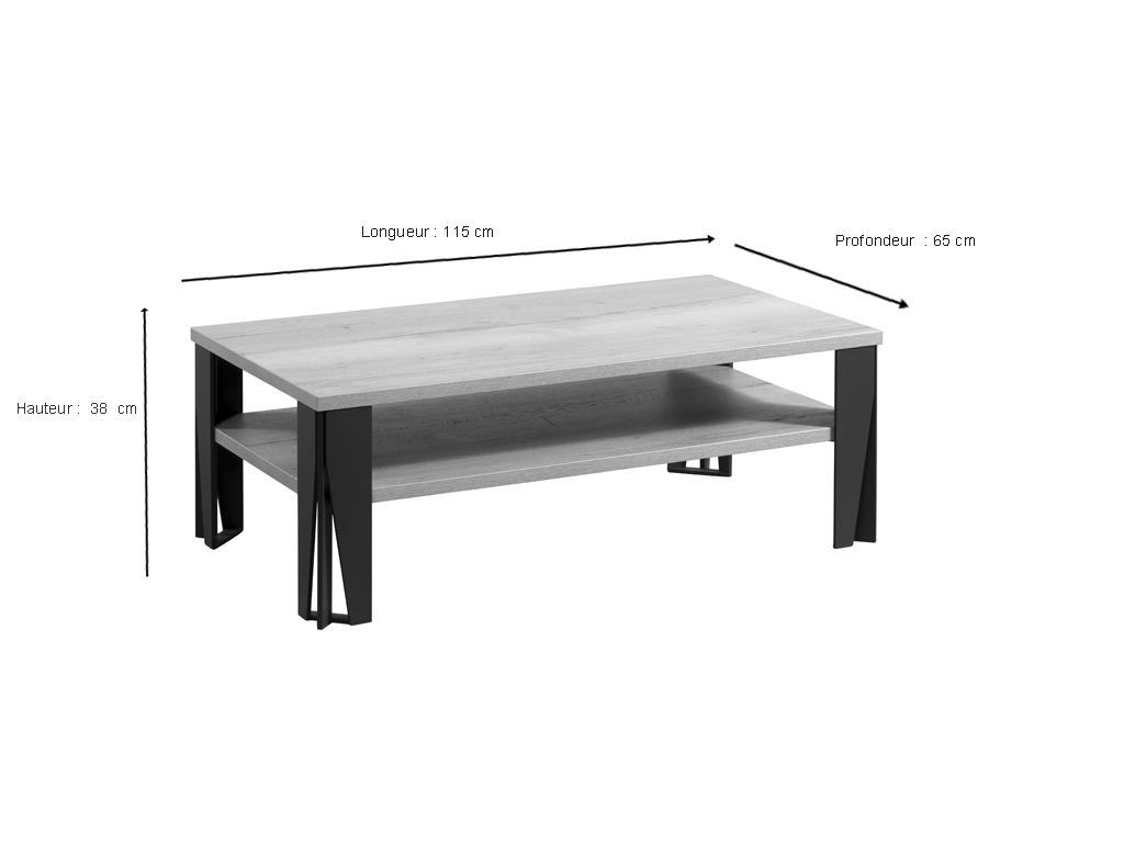 table basse himalaya pieds metal ch ne naturel meubles minet. Black Bedroom Furniture Sets. Home Design Ideas