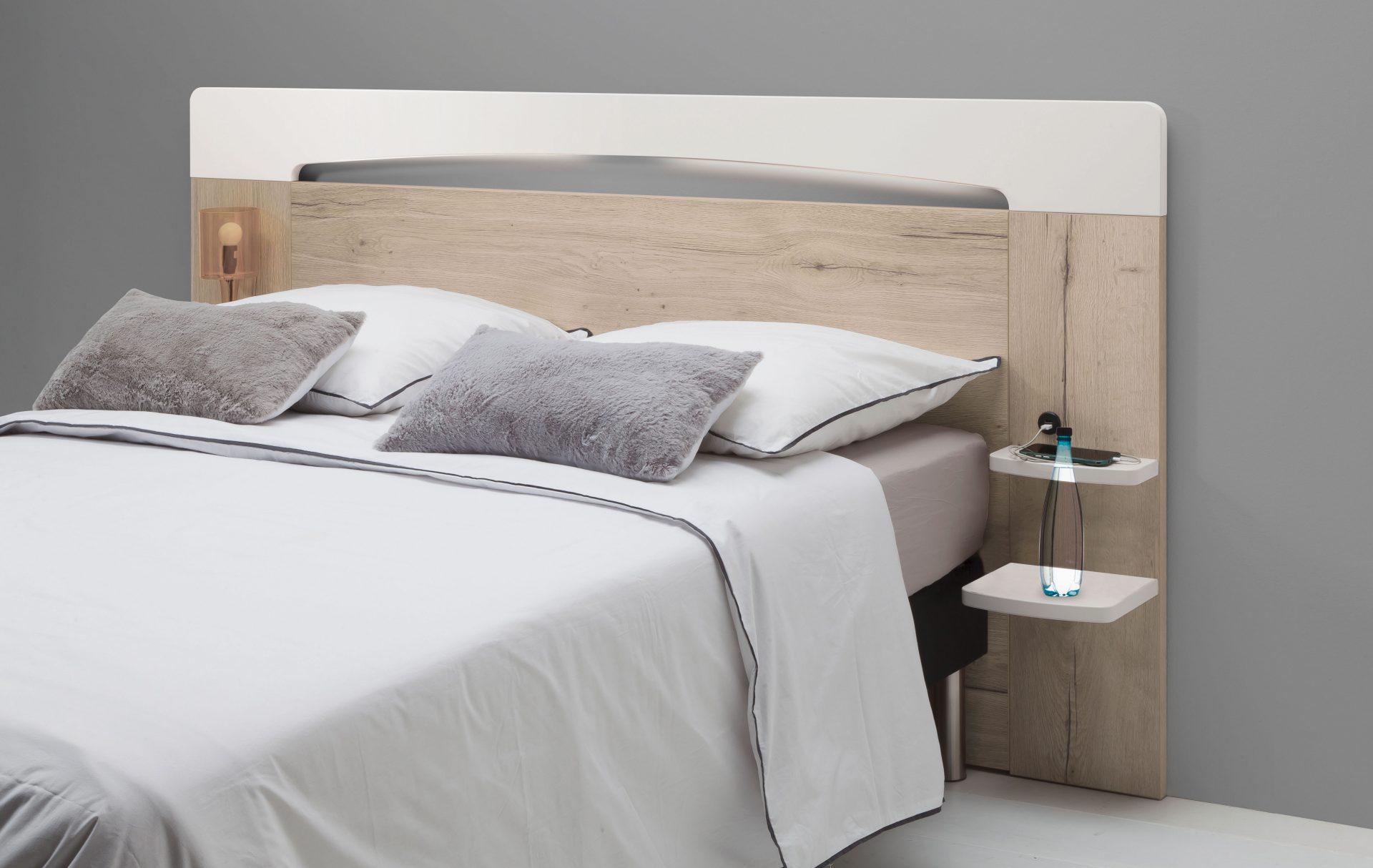 T te de lit verseau blanc laque perle 140 ou 160 meubles minet - Tete de lit blanc laque 160 ...