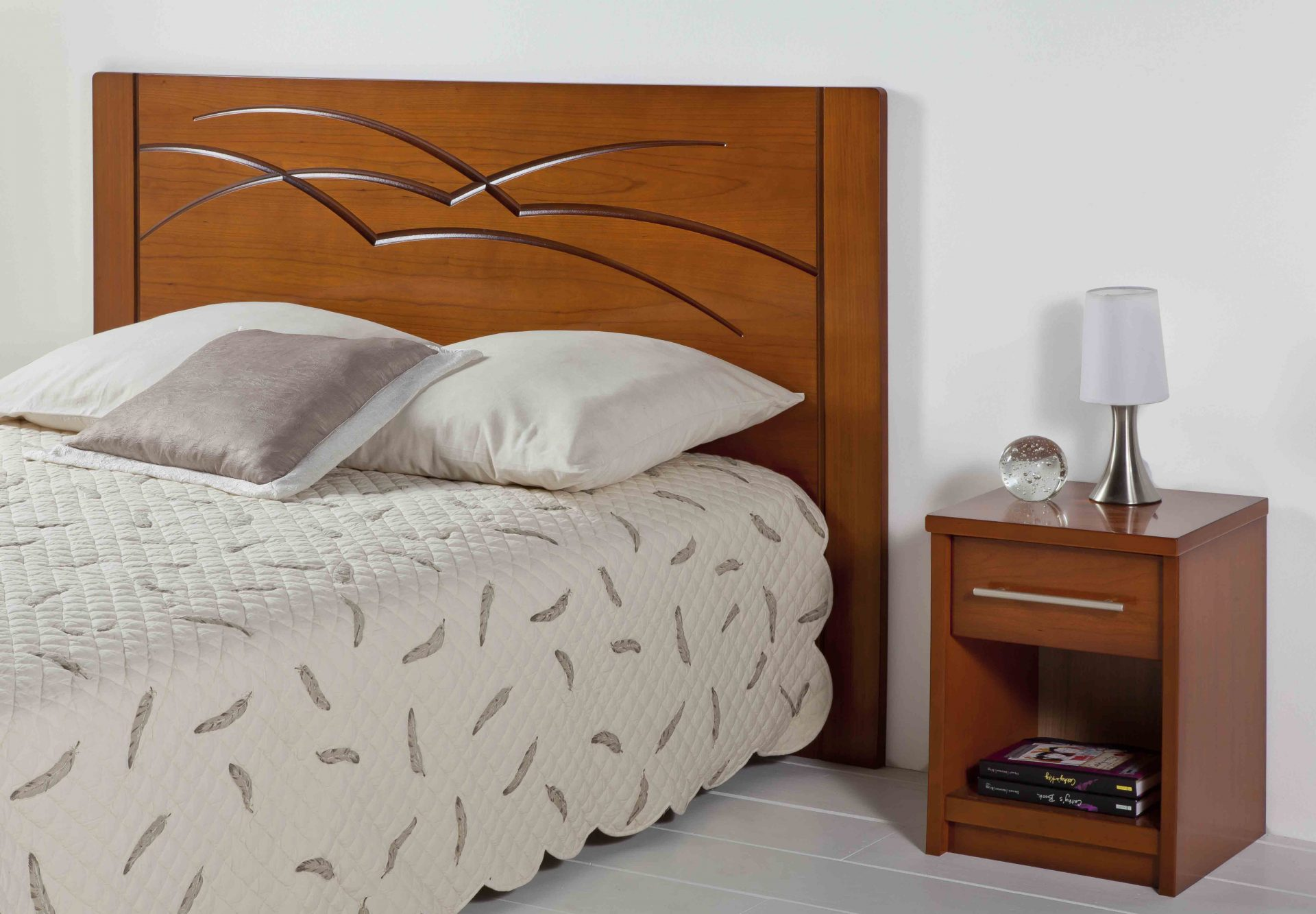 tete de lit 180 bois blanc — lamichaure