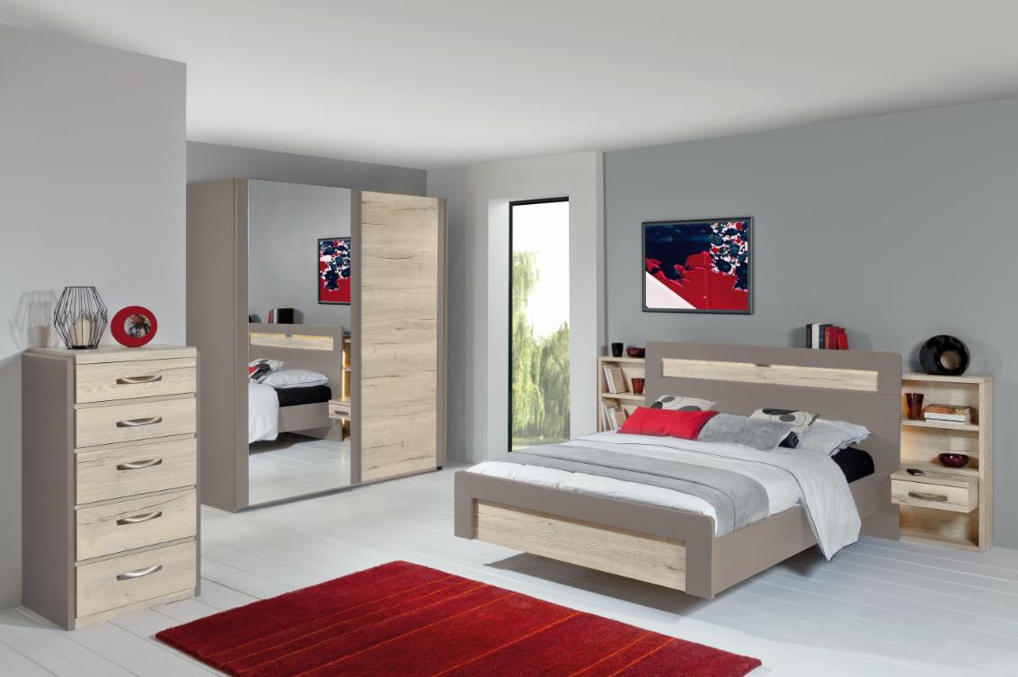 chiffonnier calypso m lamin ch ne structur blanc laque argile meubles minet. Black Bedroom Furniture Sets. Home Design Ideas