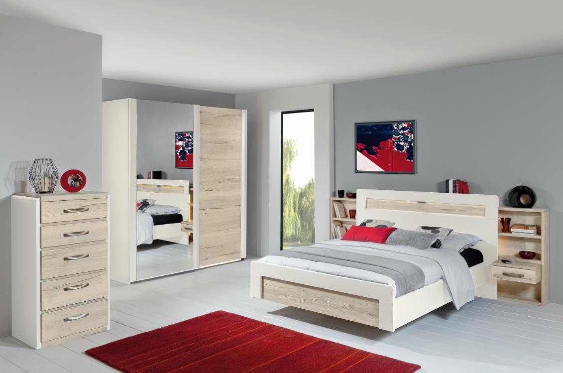 chiffonnier calypso m lamin ch ne structur blanc laque perle meubles minet. Black Bedroom Furniture Sets. Home Design Ideas