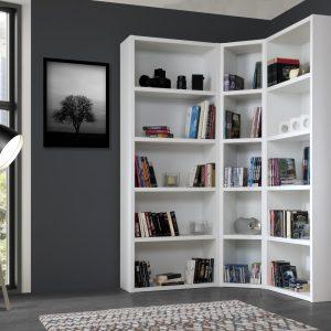 Bibliothèque d'angle modulable et personnalisable en taille et couleurs