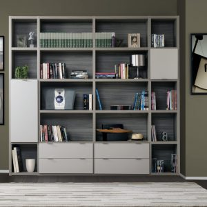 Bibliothèque modulable personnalisable avec plusieurs teintes et taille de module. Fait partie de la collection Manhattan
