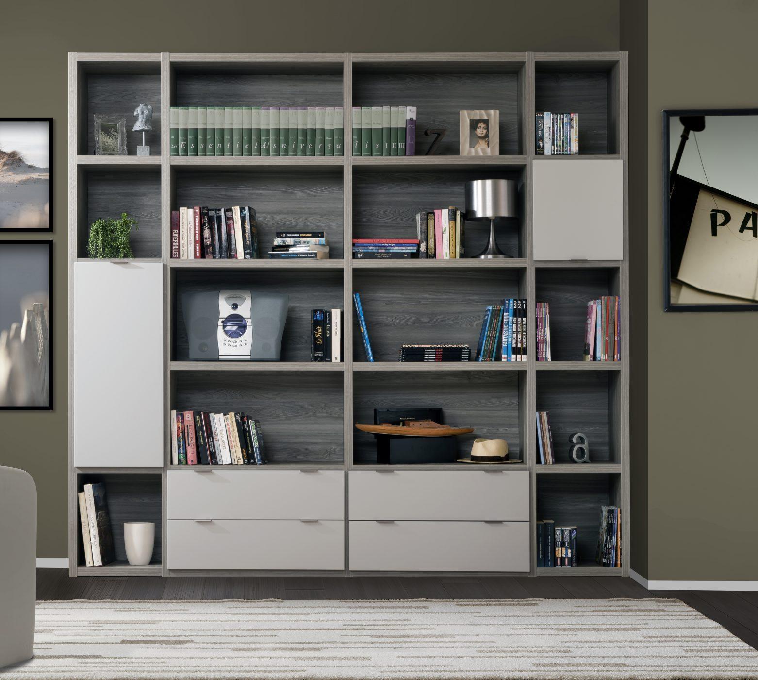 biblioth que modulable manhattan meubles minet. Black Bedroom Furniture Sets. Home Design Ideas