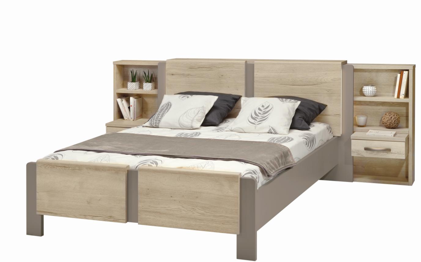 T te de lit calypso droite m lamin structur ch ne blanc - Tete de lit blanc laque ...