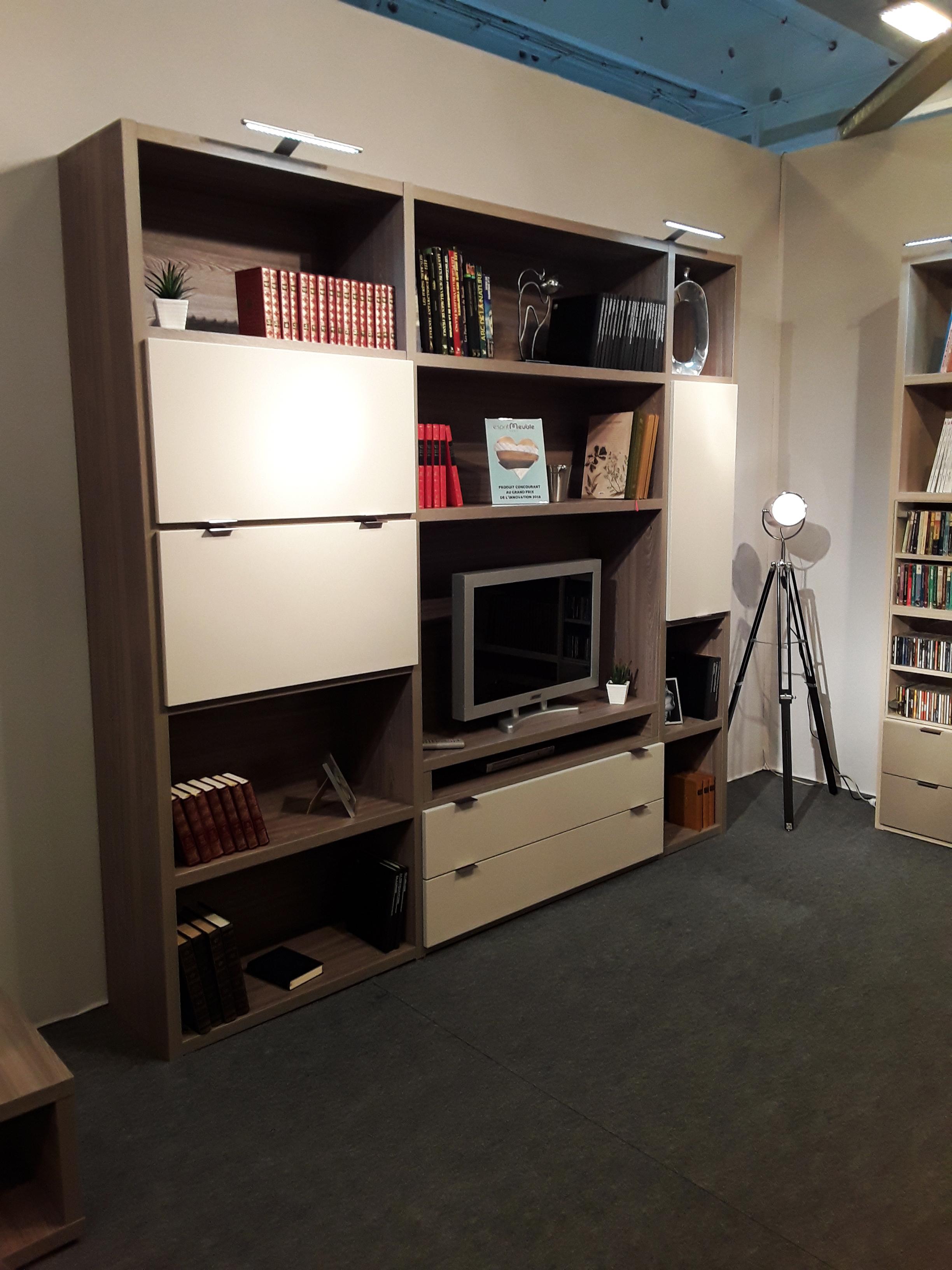 Bibliothèque modulable Meuble TV - Manhattan - Meubles Minet
