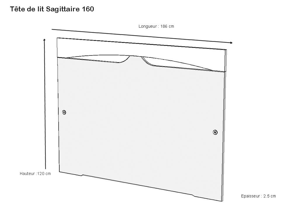 T te de lit sagittaire blanc laque carbone 140 ou 160 meubles minet - Tete de lit blanc laque 160 ...
