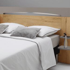 T te de lit verseau blanc laque argile 140 ou 160 meubles minet - Tete de lit blanc laque 160 ...