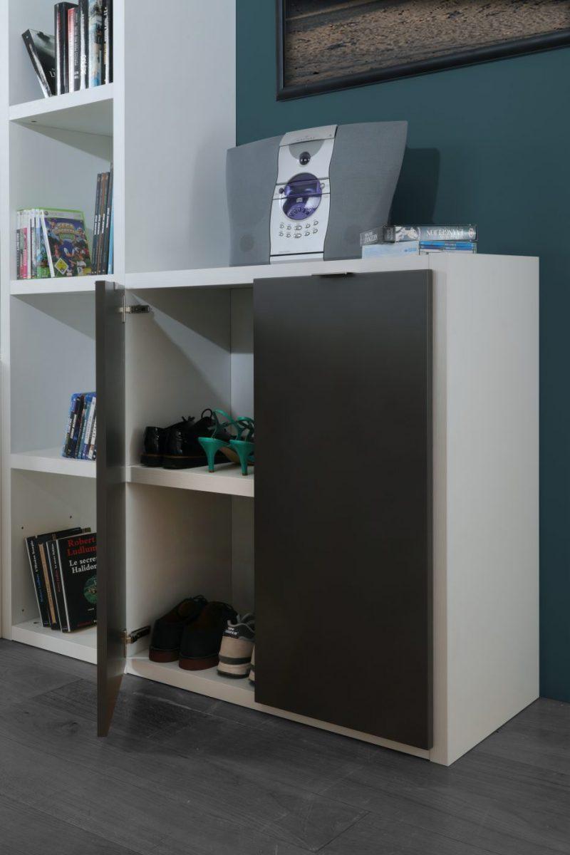 meuble chaussure manhattan les meubles minet. Black Bedroom Furniture Sets. Home Design Ideas