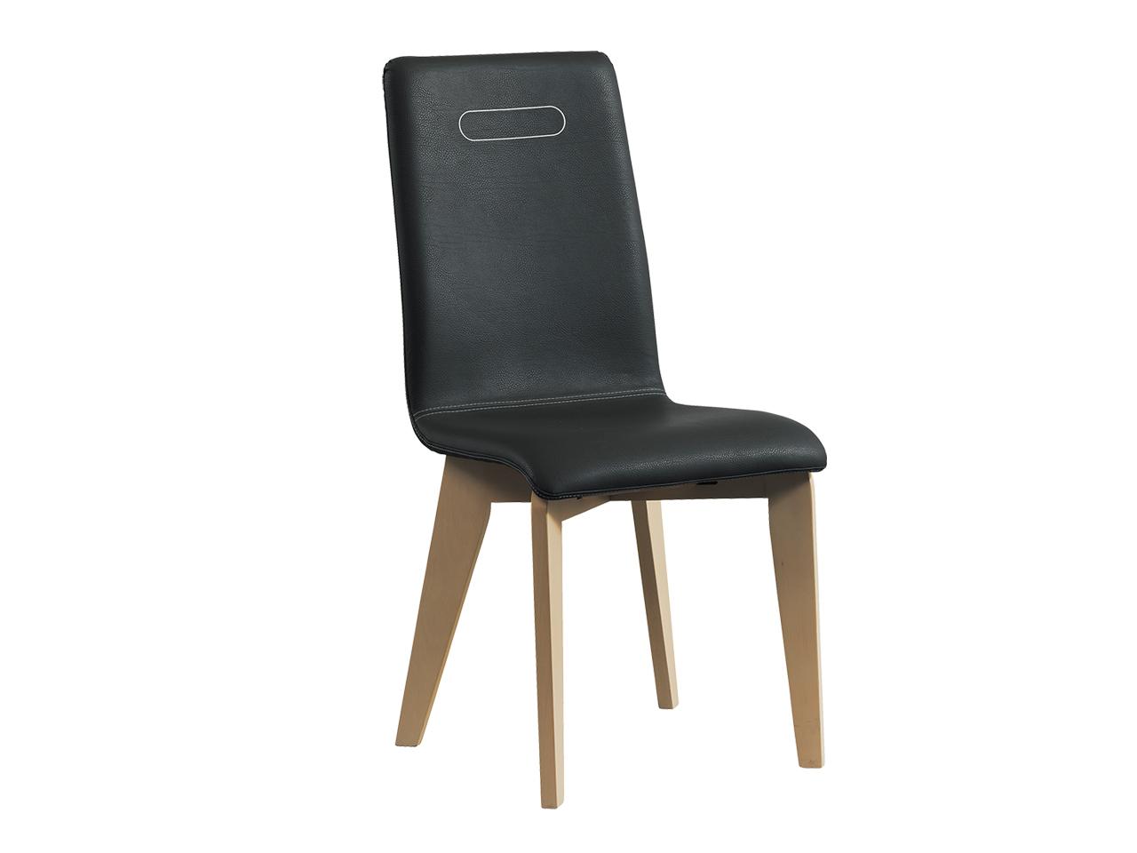 lot de 2 chaises himalaya cuir gris naturel meubles minet. Black Bedroom Furniture Sets. Home Design Ideas