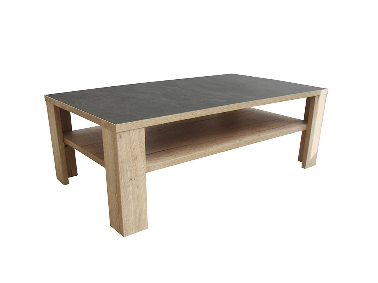 table basse himalaya pieds bois ch ne blanc ceram gris. Black Bedroom Furniture Sets. Home Design Ideas