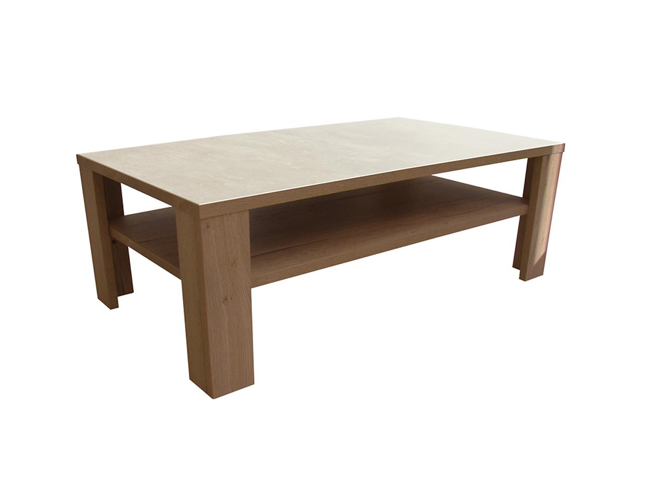 table basse himalaya pieds bois ch ne tabac ceram craie meubles minet. Black Bedroom Furniture Sets. Home Design Ideas
