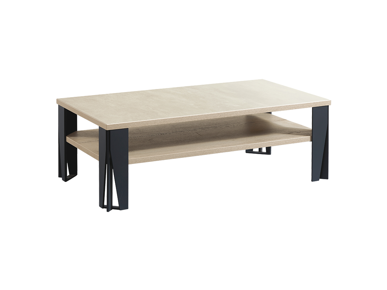 table basse himalaya pieds metal ch ne blanc ceram craie. Black Bedroom Furniture Sets. Home Design Ideas